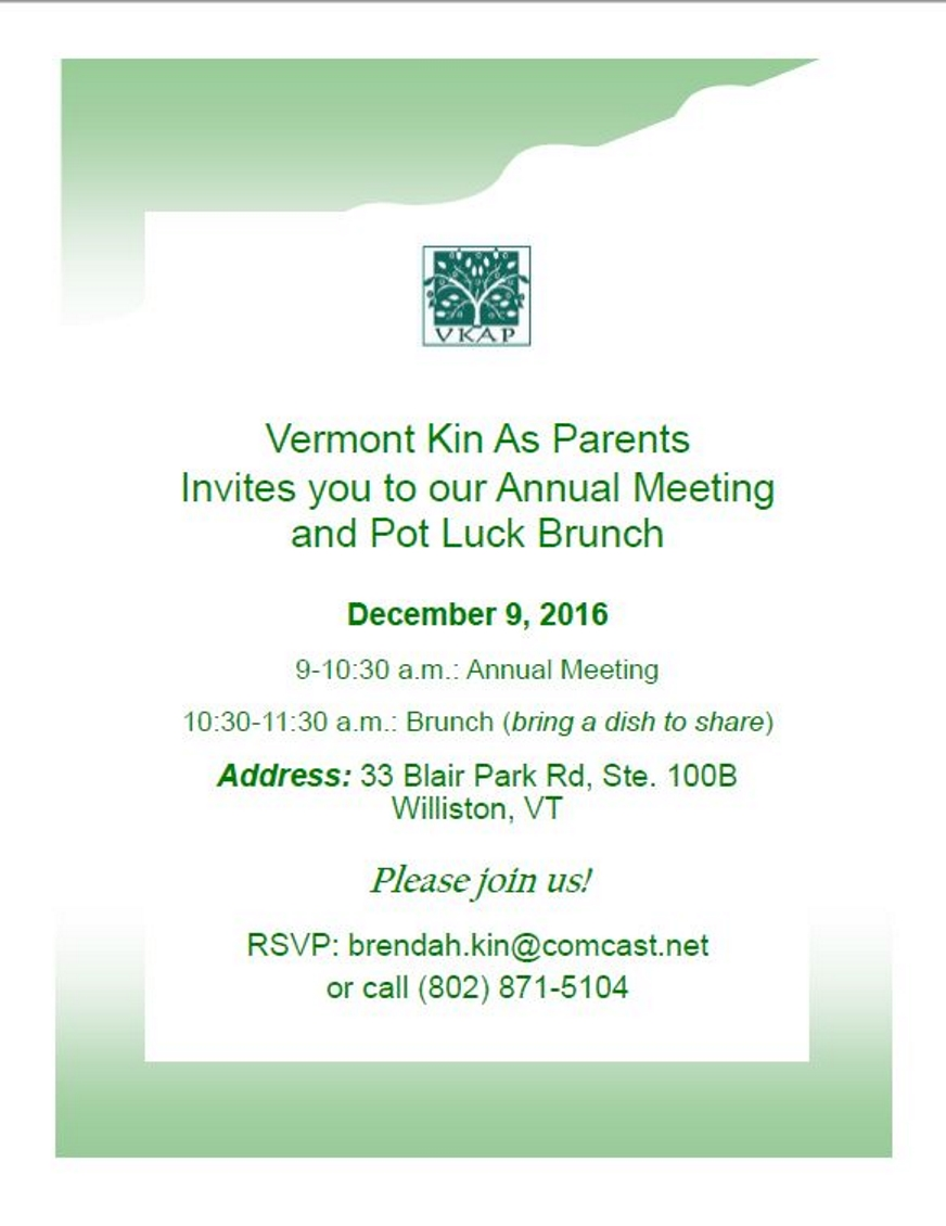 2016 Annual Meeting Flyer