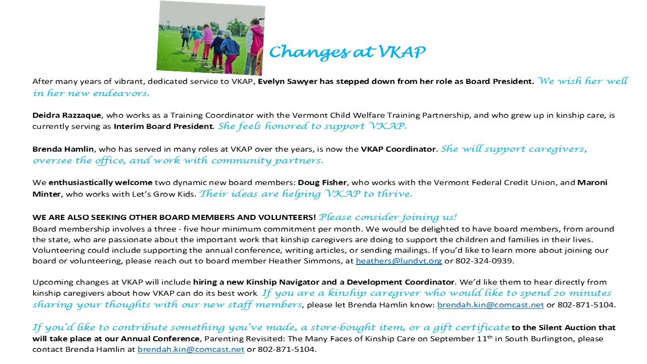 Vermont Kin As Parents | Strengthening families raising children of ...